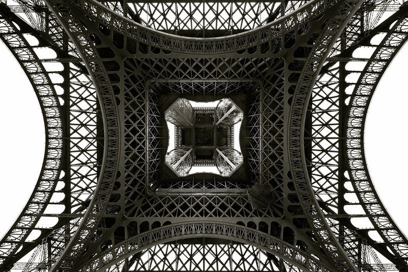 Eiffel Tower - Structure from below