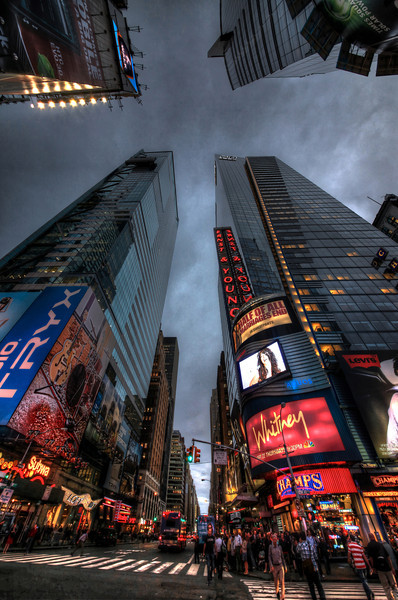 Times Square Lights before the Storm